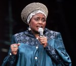 Miriam Makeba during a concert