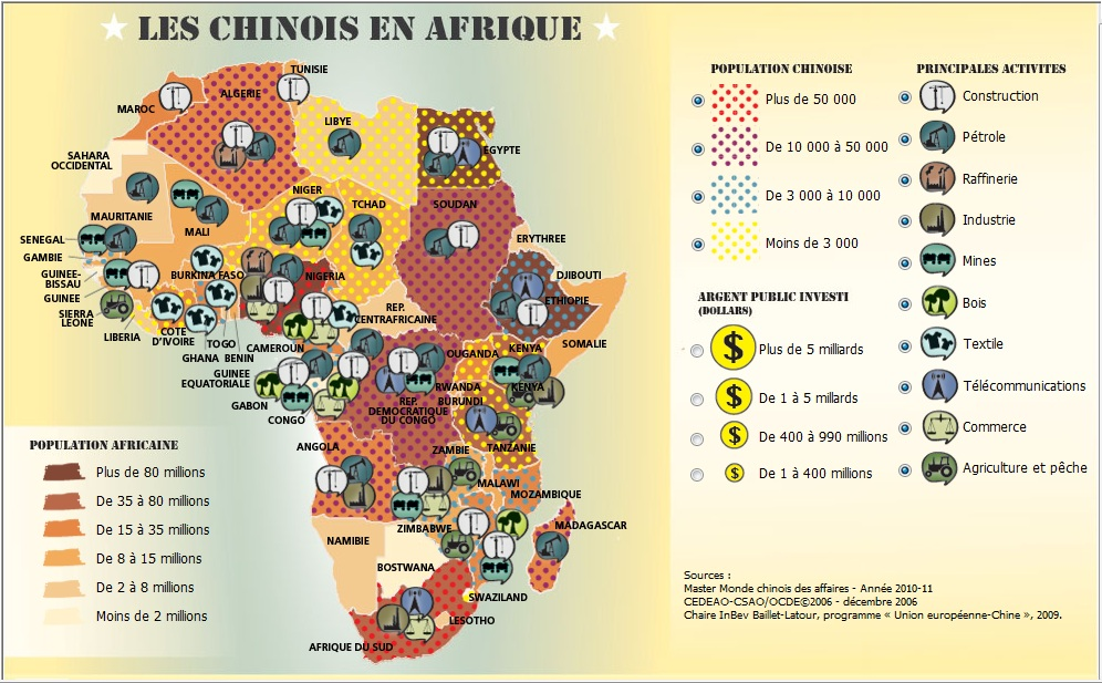Map Of Africa Resources.China S Presence In Africa African Heritage