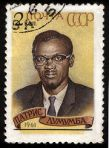 Lumumba on a USSR stamp in 1961