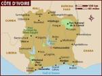 Map of Côte d'Ivoire