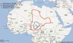 Map of the Kanem and Kanem-Bornu empires