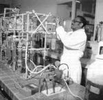 Cheikh Anta Diop in the laboratory