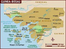 Map of Guinea Bissau