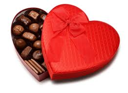A box of Valentine's day chocolate