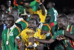 Zambia's national team celebrate their win of the African Cup of Nations (Source: AFP)