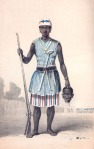 Seh-Dong Hong-Beh, leader of Dahomey Amazons (painted by Frederick Forbes in 1851)