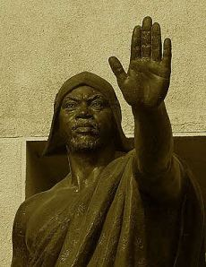 Statue of Behanzin in Abomey, Benin