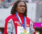 Maria Mutola winning gold in Sydney