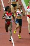 Maria Mutola defeating Kelly Holmes at World Championships