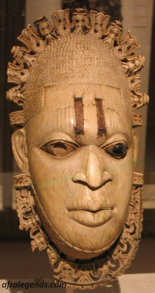 Pendant Ivory mask representing Queen Idia, Iyoba of Benin City (16th Century)