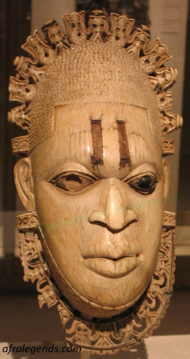 Pendant Ivory mask representing Queen Idia, Iyoba of Benin City (16th Century)