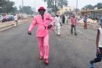 A Sapeur in Brazzaville, Congo