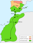 Map of Almoravid Empire