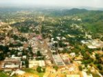 Aerial view of Bangui today