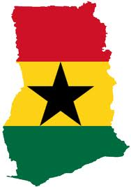 Map and Flag of Ghana