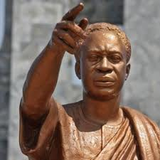 Nkrumah's sculpture at the Kwame Nkrumah Mausoleum in Accra