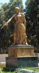 Monument celebrating Lalla Fadhma N'Soumer, in Algiers
