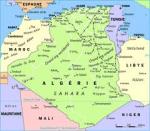 Carte de l'Algerie (Map of Algeria)