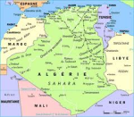 Carte de l'Algerie (Map of Algeria)
