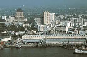 Kinshasa, seen from the Congo river