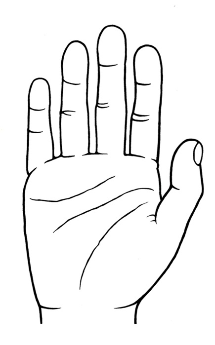 Les lignes de la main african heritage - Dessin de la main ...