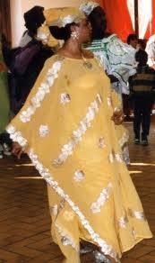 Woman wearing a boubou