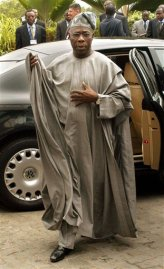 President Olusegun Obasanjo of Nigeria, famous for his boubous