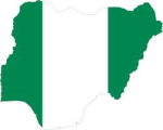 Flag and map of Nigeria