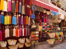 A souk in Marrakesh