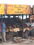 Soya sellers at the entrance of Douala (in Bonaberi)
