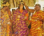 A Kente cloth was offered to Michael Jackson during his enthronement as prince of Krindjabo (Côte d'Ivoire).