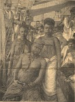 Picture of captured Gungunyane on board the ship 'Africa' from the Diario Ilustrado - 15 March 1896