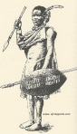 Picture of a Vatua-Shangaan warrior, taken at the end of the 19th century (Source: 'Les Africains', Vol.3, P.182, Ed. J.A. 1977)