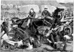 A depiction of the Battle of Isandlwana, taken from the London News