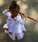 Young girl attending the Timkat Festival (Carlos de Souza, AFP)