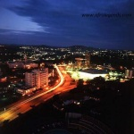 Yaoundé at night