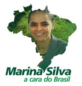 A Marina Silva's campaign poster for the 2010 presidential election (marinasilvapresidente.ning.com)