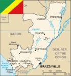 Map and Flag of the Republic of Congo