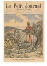 """Edition du Petit Journal d'août 1896 intitulée: """"Negus Menelik II à la bataille d'Adwa"""""""