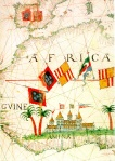 16th Century map of West Africa with Fort Elmina