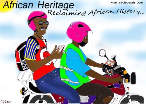 Happy Holidays 2014 (Illustration by Osee Tueam, for Dr. Y, Afrolegends.com)