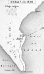 Map of Dakar in 1850