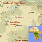 Location of Khami Ruins in Zimbabwe