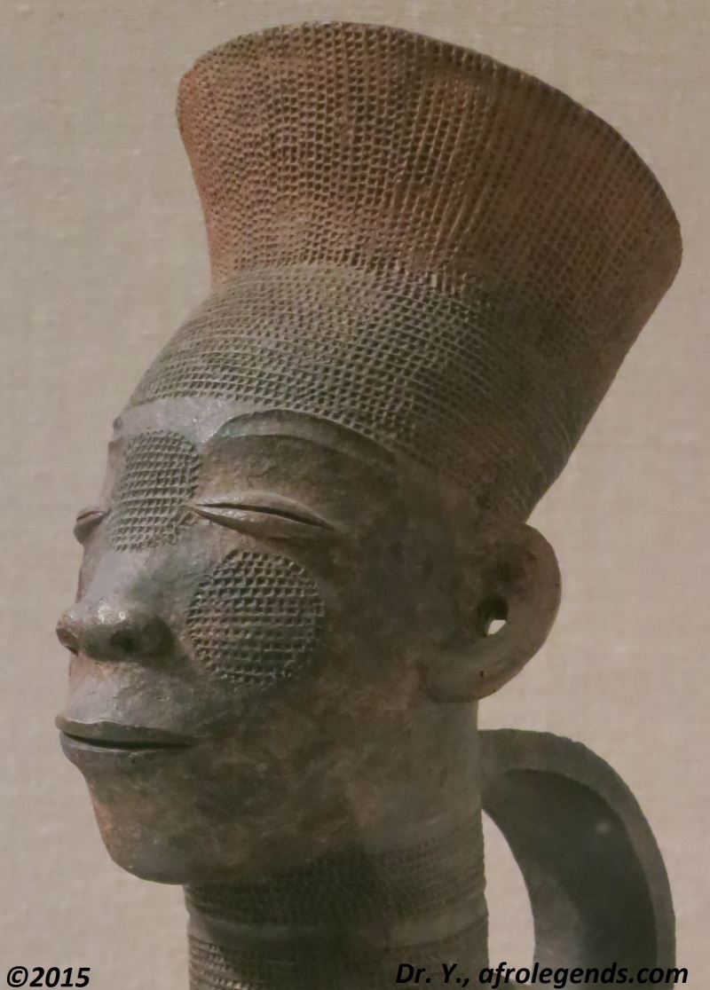 Sculpture of a Mangbetu person, in Congo (this sculpture is exposed at the MET)