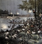 French invasion of the Dahomey along the Oueme River in 1892