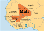Map of Mali with its capital Bamako