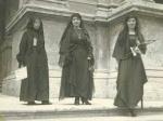 The first 3 Egyptian Ladies to abandon the veil: Nabaireya Moussa, Hoda Chaaraoui, and Ceza Nabaroui