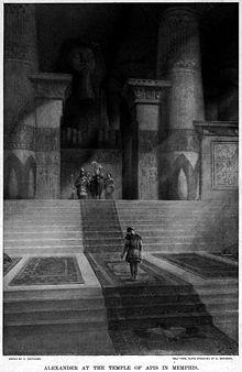 Memphis_Alexandre visitant le temple de Memphis 1898