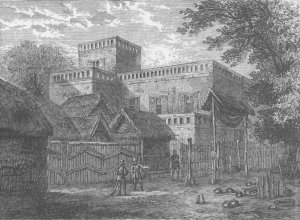 ashanti-king-palace-being-burned-and-ransacked-by-british-in-1874-after-3rd-angloashanti-war