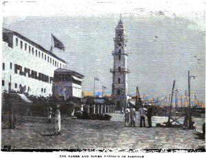 zanzibar_the_harem_and_tower_harbour_of_zanzibar_1890